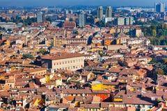 Панорамный взгляд от башни Asinelli, болонья Стоковые Фотографии RF