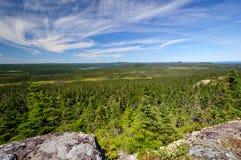 Панорамный взгляд от верхней части горы Стоковое Изображение RF