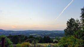 Панорамный взгляд от холма стоковые фото