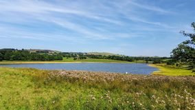 Панорамный взгляд от холма стоковая фотография