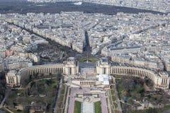 Панорамный взгляд Парижа от высоты башни elven Стоковая Фотография RF