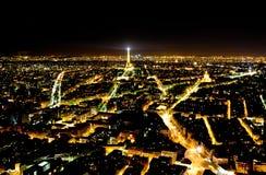 Панорамный взгляд Париж от башни Monparnas Стоковые Фото