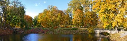 панорамный взгляд парка Стоковые Изображения RF