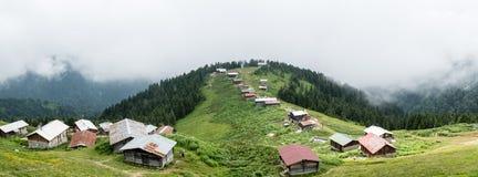 Панорамный взгляд плато Pokut в karadeniz Чёрного моря, Rize, Турции Стоковая Фотография