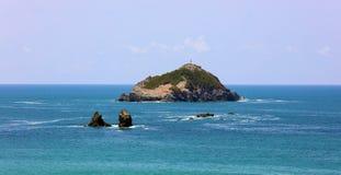 Панорамный взгляд пляжа национального парка Манюэля Антонио в Коста-Рика, большинств красивых пляжах в мире стоковая фотография
