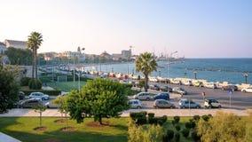 Панорамный взгляд побережья городского пейзажа в Бари стоковые фотографии rf