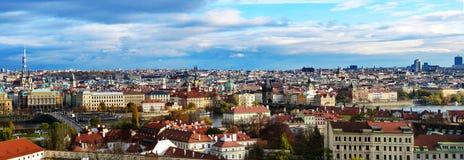 Панорамный взгляд Праги стоковое изображение rf
