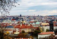Панорамный взгляд Праги стоковая фотография rf