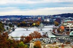 Панорамный взгляд Праги стоковые фотографии rf