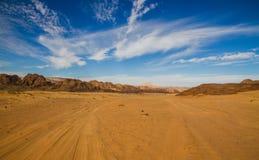 Панорамный взгляд пустыни Синая, Египта Стоковые Фото
