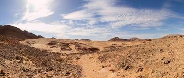 Панорамный взгляд пустыни Синая, Египта Стоковое Фото