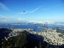 Панорамный взгляд Рио-де-Жанейро, Бразилии стоковые фотографии rf