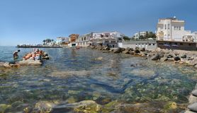 Панорамный взгляд Санты Marinella Стоковые Изображения RF