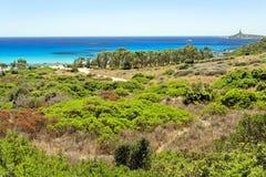 панорамный взгляд Сардинии Стоковая Фотография