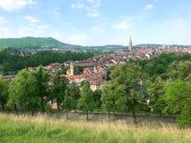 Панорамный взгляд старого города, Bern - Швейцарии стоковая фотография