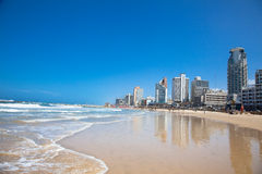 Панорамный взгляд Тель-Авив. Израиль Стоковое фото RF