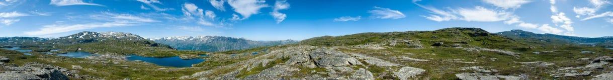 Панорамный взгляд Hardangervidda, Норвегия Стоковые Фото