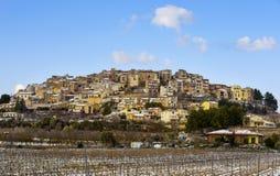 Панорамный взгляд Horta de Sant Джоан, Испании Стоковые Изображения RF