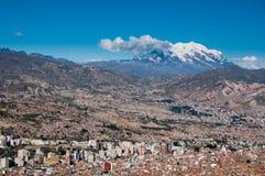 Панорамный взгляд La Paz, Боливии Стоковые Фото