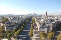 панорамный взгляд paris Стоковые Изображения RF