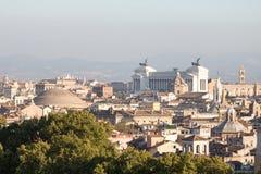 панорамный взгляд rome Стоковые Фотографии RF
