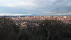 панорамный взгляд rome сток-видео