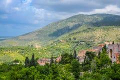 Панорамный взгляд Tivoli, Италии стоковые изображения