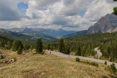 Панорамный взгляд Val Badia, Италии стоковое фото rf