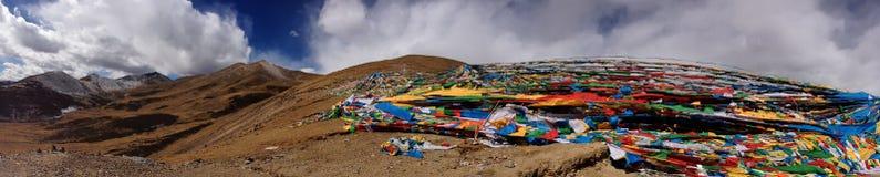 Панорамный взгляд Тибета Стоковое Изображение RF