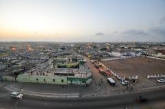 Панорамный взгляд Аккра, Ганы Стоковое Изображение