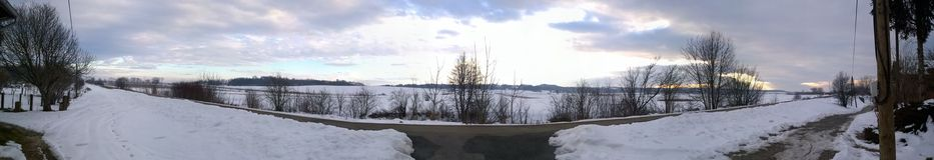 Панорамный взгляд ландшафта зимы стоковое фото