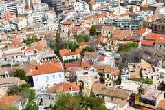 Панорамный взгляд Афин от акрополя, Греции Стоковые Изображения RF