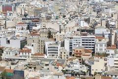 Панорамный взгляд Афин от акрополя, Греции Стоковое Фото
