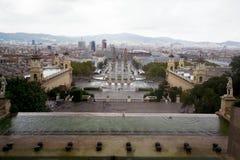 Панорамный взгляд Барселоны Стоковое Изображение