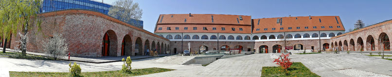 Панорамный взгляд бастиона Марии Theresia от Timisoara, Rom Стоковые Фотографии RF