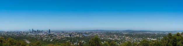 Панорамный взгляд Брисбена от простофили-tha держателя, Австралии Стоковое Изображение