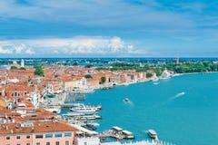 Панорамный взгляд Венеции от колокольни Сан Marco, Италии Стоковая Фотография