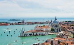 Панорамный взгляд Венеции от колокольни Сан Marco, Италии Стоковые Изображения RF