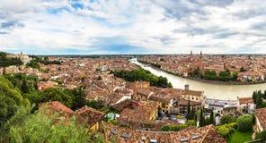 Панорамный взгляд Вероны Стоковое Фото