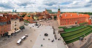 Панорамный взгляд взгляда Miasto в городке Варшавы старом, Польше Стоковая Фотография RF