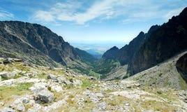 Панорамный взгляд высоких холмов Tatras Стоковая Фотография