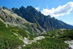 Панорамный взгляд высокого Tatras Стоковая Фотография