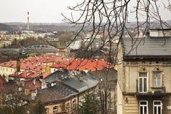 Панорамный взгляд в Przemysl Польша стоковое изображение rf