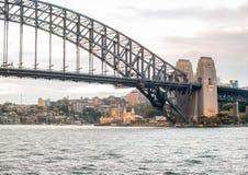 Панорамный взгляд гавани Сиднея на сумерк - NSW, Австралии Стоковая Фотография RF
