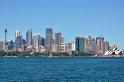 Панорамный взгляд горизонта Сиднея Стоковые Фото