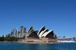 Панорамный взгляд горизонта Сиднея Стоковые Изображения