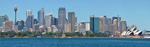 Панорамный взгляд горизонта Сиднея Стоковое Изображение