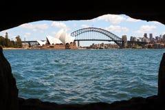 Панорамный взгляд горизонта Сиднея Стоковая Фотография RF