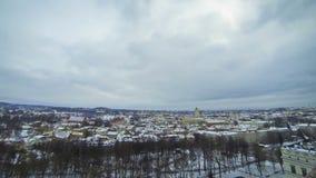 Панорамный взгляд города Вильнюса, Литвы видеоматериал