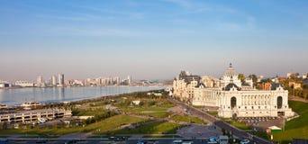 Панорамный взгляд города Казани Россия kazan Стоковые Фотографии RF